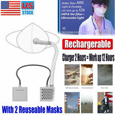 Airpro Electrical Air Purifying Respirator Reusable Rechargeable With 2 Masks
