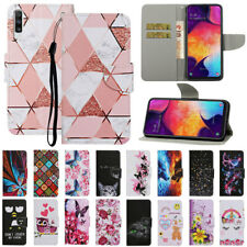 For Samsung A10 A20E A30 A40 A50 A70 Pattern Leather Flip Card Wallet Case Cover