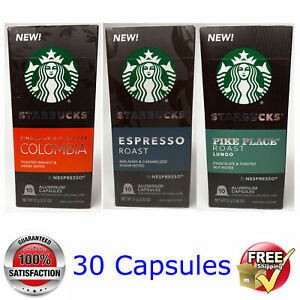 3x10 NESPRESSO STARBUCKS @ Colombia-Espresso-Pike Place @ BEST PRICE
