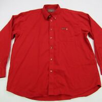 Marlboro Classics Mens Long Sleeve Shirt Casual Smoking 2XL Button Down Red Vtg