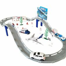 Best Toys for Kids Boys Girls Airport Playset Plane Model Game Railway Track Set
