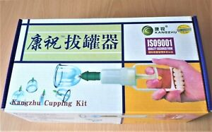 Quality Vacuum Cupping Therapy Set Kit Kangzhu + Symptoms Treatment Booklet 12cu