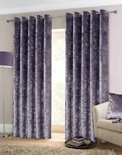 Luxury Crushed Velvet Heavy Eyelet Ringtop Lined Curtains Purple Lilac FREE P&P!