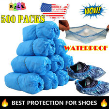 500PCS Disposable Anti Slip Boot Shoe Covers Overshoes Waterproof Protector US