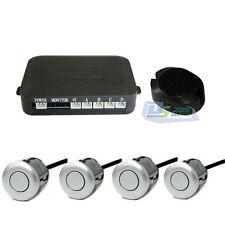 Car Parking Sensor Reversing Backup Radar Sound Alert + 4 Sensors Silver
