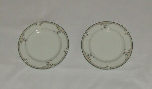 Princess House Heritage Blossom Bread Butter Plates New Set of 2 Porcelain 655