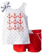 Nautica Girls Graphic Tank and Knit Short Set