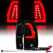 *DARKEST Black Smoke* 1997-2003 F150 F250 Superduty [NEON TUBE] LED Tail Lights