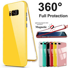 360° MAGNETIC Absorption Glass Cover Case For Samsung Galaxy Note 8 S7 S9 Plus