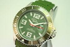 gooix Uhr GX06003030 Damenuhr Kautschuk Datum Grün Japanwerk UVP 89€ OVP