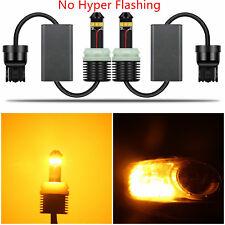 Alla Lighting 1300Lm 7440 W21W WY21W Yellow LED Bulb Car Turn Signal Light Lamp