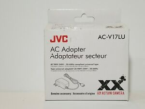 JVC AC-V17LU AC Adapter for Adixxion HD Action Camera. Open box.