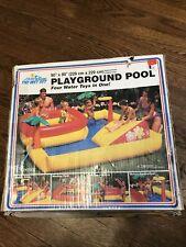 New listing Intex Wet Set Inflatable Pool Sports Center Playground Swim 90�x 90� Vtg