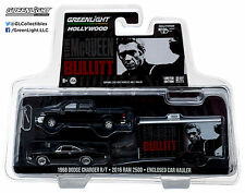 1:64 GreenLight *HITCH & TOW* McQueen Bullitt 2017 Ram Charger & Enclosed *NIP*