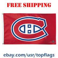 Deluxe Montreal Canadiens Logo Flag Banner 3x5 ft 2019 NHL Hockey Fan Gift NEW
