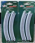 LOT of 2 - N Scale KATO UNITRACK 20-170 Curved Track R216-45 4 Pieces per Pack