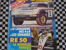AUTO-HEBDO GUIDE PARIS DAKAR 1984 + POSTER / RENAULT F1 RE 50