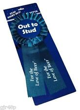 Stag Night Out Mens Blue Rosette Stud Logo Ribbon Party Stag do Best Man etc