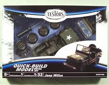 Testors Quick-Build 1:32 Willys Jeep lot (5)