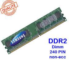 Mémoire 1GO DDR2 PC2-6400U Samsung 240PIN 800MHZ 1Rx8 M378T2863EHS-CF7