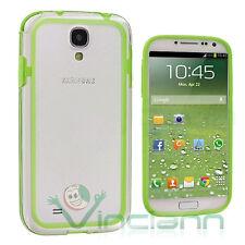 Pellicola+BUMPER verde trasparente per Samsung Galaxy S4 SIV i9505 cover bordi