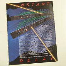 vintage magazine advert 1984 ROLAND DELAY SDE 3000