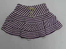 Roxy Kids Joy Ride Purple Striped Skirts Sz 5t