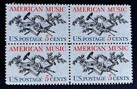 US Stamps, Scott #1252 American Music 1964 5c Block of 4 XF/S M/NH