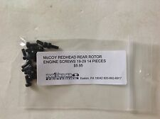McCoy 19-29 RED HEAD REAR ROTOR ALLEN TYPE SCREW  SET NIP