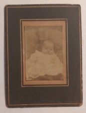 Antique Baby Cabinet Card Photograph - Irving Adams