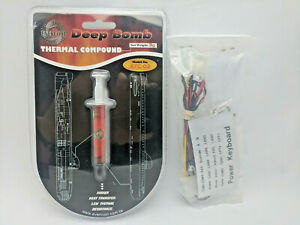 New CPU Thermal Compound Grease/ Paste, Blue LED Light Gaming PC Mod, ON/OFF Kit