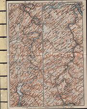 1925 GERMAN MAP ~ ANDERNACH COBLENZ TRIER COCHEM SCHWEICH ENVIRONS RIVER