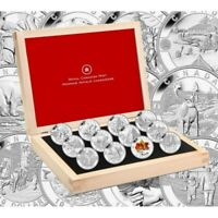 2013 Canadian $10 O Canada Series 1/2 oz Fine Silver 12-Coin set