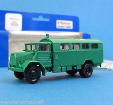 Roco H0 1659 MAN 630 L2A Koffer LKW POLIZEI grün HO 1:87 OVP