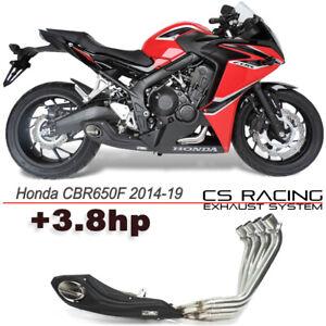 Honda CBR650F / CB650F 2014-19 CS Racing Full Exhaust Muffler + dB Killer