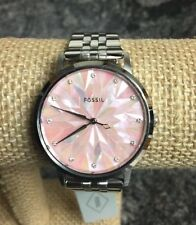 Fossil Vintage Muse Stainless Steel Pink Dial Women's Watch ES4167 NWT