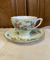 Vintage Fine Bone China Colclough England Cup and Saucer Floral