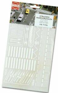 BUSCH 7197 Spur N / TT, Straßenmarkierungen, Anreibesymbole, Neu