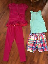 Girls Size 6 6x Lot Childrens Place Tcp Tank Shorts Leggings Outfit Summer