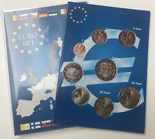Euro-KMS Andorra alle 8 Mz. mit 1+2 Cent - Euroset-Folder aus  2014 + 2017  AT