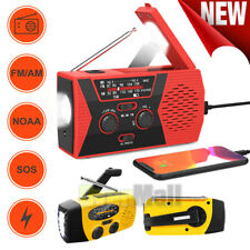 Emergency Weather Radio Portable Survival Alert Am/Fm/Noaa Radio Sos Power Bank