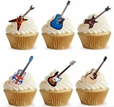 Personalised Edible Guitar Stand up Cupcake Toppers
