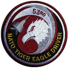 NEW PREMIUM IRON ON PATCH NATO TIGER EAGLE DRIVER AIR FORCE ARMY MILITARY SEW ON