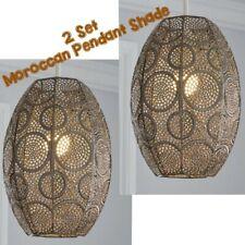 2x Moroccan Brass Coat Metal Pendant Shade Ceiling Hanging Lamp Dine Decor Room