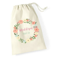 Personalised Wedding Bride, Flower Girl, Bridesmaid Favour Drawstring Gift Bags