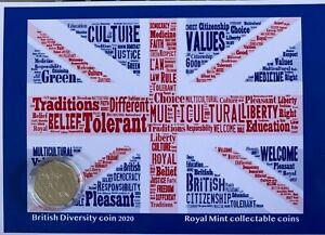 New Uncirculated Diversity built Britain commemorative  50p coin display