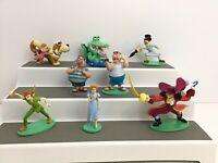 Disney Peter Pan Figures Cake Toppers Lot Of 8 Pcs Rare