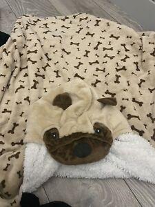 Pug Childrens Hooded Blanket