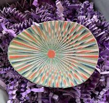 "Repro Vintage Green Orange Optical Illusion Egg Cardstock Decoration,1"" to 3"""