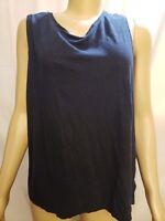 J. Jill Love Linen Women's 2X Plus Size Sleeveless Top Black